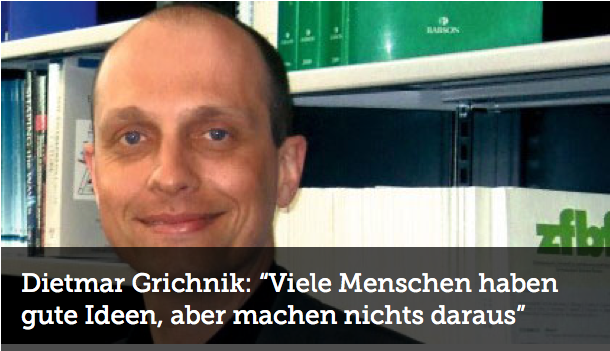 Dietmar Grichnik bei der Wirtschaftswoche