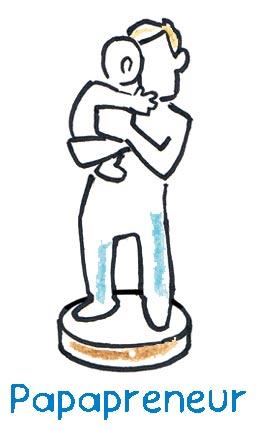 Der Papapreneur, der als junger Vater in seiner neuen, ungewohnten und zum Teil noch unbehaglichen Rolle nach Gleichgesinnten sucht, die mit ihm den Bildungsmarkt revolutionieren wollen, zumindest ein Stück weit im Schutz seiner Erfahrungs- und Wissenswelt.