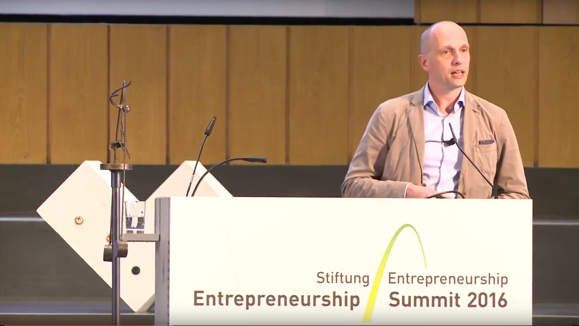 Vom Glück Unternehmer zu sein – Keynote auf dem Entrepreneurship Summit in Berlin
