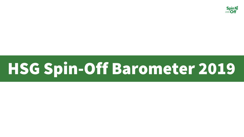 «HSG Spin-Off Barometer 2019» – Wertschöpfung erneut erhöht